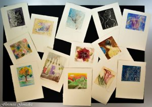 Trabajos varios de las compañeras de la Clase de Artes Plásticas I.