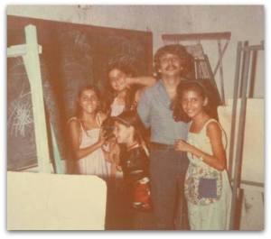 Año 1980. Actualmente sigue impartiendo clases de Dibujo y Pintura.
